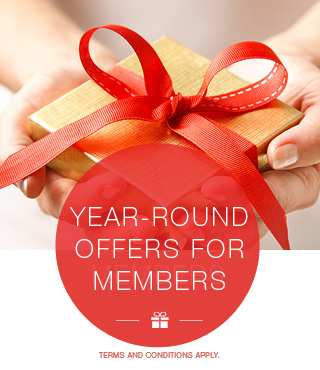 Year Round offers for Members